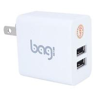 Củ Sạc nhanh Adapter Bagi CE-M23 2USB Quick Charge với Chíp BGPower 5.2V-3.1A - Hàng Chính Hãng