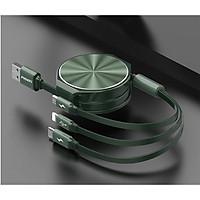Cáp Pisen 3 trong 1 (Lightning/Type-C, Micro ) 1200mm  màu ngẫu nhiên -  LS-AP10-1200 CDIII _ Hàng chính hãng