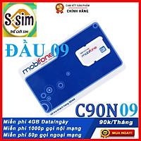 SIM 4G MOBIFONE C90N ĐẦU SỐ 09 MIỄN PHÍ 120GB DATA + 1000P MOBI + 50 LM  FREE 1THÁNG - HÀNG CHÍNH HÃNG