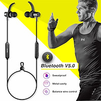 DACOM L15 Wireless Headphones Sports Bluetooth Earphone 5.0 Stereo IPX5 Waterproof Headset with Mic for Smartphones