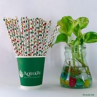 [AgroLife] Ống hút giấy từ sợi mía - Phi 6mm - Hộp 50 ống không cắt xéo - Ống hút tự phân huỷ bảo vệ môi trường - An toàn cho sức khoẻ