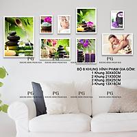 Bộ Ảnh Treo Tường Trang Trí Tiệm Spa Tặng Kèm bộ ảnh như hình mẫu, đinh treo tranh và sơ đồ treo PGC257