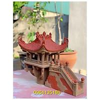 Tiểu cảnh chùa một cột h33cm gốm sứ Bát Tràng
