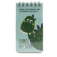 Sổ Lò Xo Cartoon 8x15cm - Mẫu 6 - Hello Dude - Màu Xanh