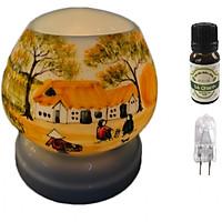 Combo tinh dầu sả chanh Eco oil 10ml cùng đèn xông tinh dầu tam giác TG07