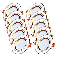 Bộ 10 Đèn LED Âm Trần Cao Cấp 3 Màu Suntek 7W