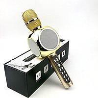 Micro Karaoke Bluetooth Kèm Loa Bass GUTEK YS90, Micro Bắt Giọng Âm Thanh Trong Lớn Bass Cực Hay, Gắn Usb, Thẻ Nhớ, Cổng 3.5 - Hàng chính hãng