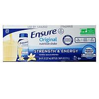Thùng 30 Chai Sữa nước Ensure Original Nutrition Shake (237ml) - Nhập khẩu Mỹ