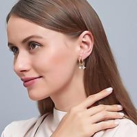 1 Pair of Women's Earrings Golden Pearl Star U-shaped Ear Studs