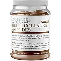 Chocolate Ca Cao Tăng Cường Với Mct Oil 5 Loại Thực Phẩm Có Nguồn Gốc Collagen, Hỗ Trợ Khớp, Tóc, Da Và Móng Tay, Grass-Fed, Keto, Paleo, 18Oz Codeage Multi Collagen Peptides Protein Powder