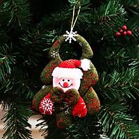 Móc Treo Trang Trí Giáng Sinh Bằng Vải Siêu Đáng Yêu 16x12cm