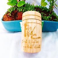 Ống tăm tròn gỗ khắc chữ