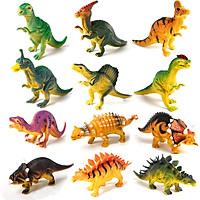 Mô hình khủng long New4all Dinosaurs Discovery 12 con nhựa PVC an toàn cho bé trên 3 tuổi