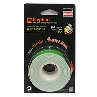 Băng Keo Xốp 2 Mặt Elephant DSFT241M 24Mmx1M