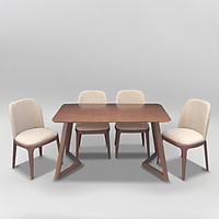 Bộ bàn ăn Scorden ghế Grace không tay