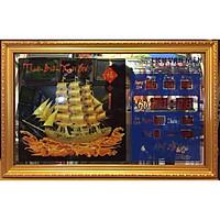 Tranh đồng hồ vạn niên, Thuyền buồm - 3406