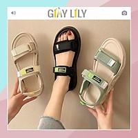 Sandal nữ LILY 2 quai dán, chất da mềm và êm chân đi học đi chơi