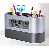 Đồng hồ kiêm hộp đựng bút để bàn Ver3 ( Tặng móc treo đồ dán tường ngẫu nhiên )