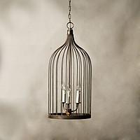 Đèn chùm lồng chim thép cổ điển