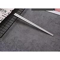 Sét 5 Đôi Đũa Inox Cao Cấp #304 - Màu Bạc 23cm