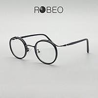 Gọng kính tròn ROBEO , phong cách Retro mắt chống ánh sáng xanh - Fullbox