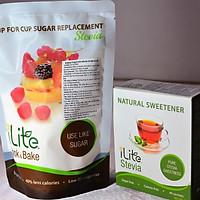 Combo đường cỏ ngọt tự nhiên uống trà/cafe + nấu ăn - iLite từ Singapore