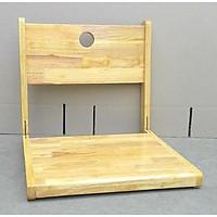 Ghế ngồi bệt kiểu nhật, ghế thư giãn, ghế đọc sách, ghế tựa lưng đa năng gỗ cao su MẶT NGỒI LIỀN