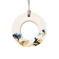 Vòng tròn treo độc đáo để trang trí tường, khuếch tán tinh dầu và trang trí với hoa đậu biếc