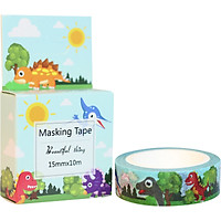 Băng Keo Giấy Trang Trí Masking Tape - Khủng Long