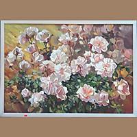 Tranh sơn dầu vẽ tay hoa OP017