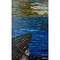 Tranh sơn dầu sáng tác vẽ tay: Ra Khơi