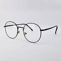 Gọng kính nam nữ mắt tròn kim loại màu bạc, vàng, xanh, đen SA3126. Tròng kính giả cận 0 độ, chống ánh sáng xanh, tia UV
