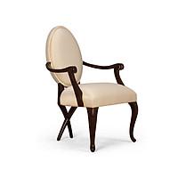 Ghế ăn OVALE phong cách tân cổ điển khung gỗ sồi - Màu ngẫu nhiên