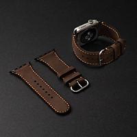 Dây da đồng hồ SEN Apple Watch size 38/40 - CHÍNH HÃNG KHACTEN.COM - NÂU SÁP - 191 - ADAPTER ĐEN