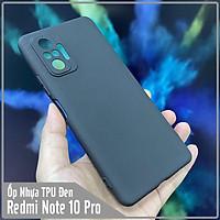 Ốp lưng TPU nhám dẻo cho Xiaomi Redmi Note 10 Pro, che Camera