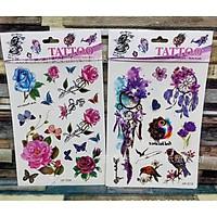Set hình xăm nước Tatoo nhiều mẫu siêu đẹp - chọn mẫu