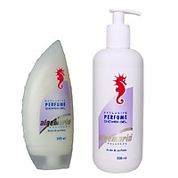 Combo 2 chai Sữa tắm cá ngựa Algemarin Perfume Shower Gel (300ml + 500ml)