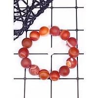Vòng tay phong thủy đá mã não đỏ nhám mệnh hỏa, thổ - Ngọc Quý Gemstones