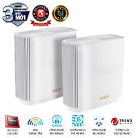 Hệ Thống MESH WI-FI 6 ASUS XT8 (W-2-PK) ZenWiFi Chuẩn AX6600 3 Băng Tần- Hàng Chính Hãng