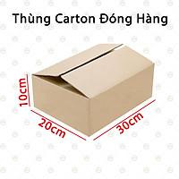 20 Thùng Hộp Carton 30x20x10 - Độ Dày 3 Lớp Sóng B - KhoNCC Hàng Chính Hãng - NTQT-BoxCarton-SG4