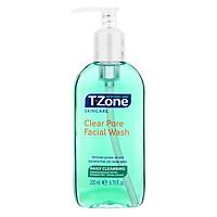 Gel rửa mặt tinh chất tràm trà T-Zone Clear Pore Facial Wash daily cleansing 200ml, se khít lỗ chân lông, cho da dầu mụn, hàng chính hãng