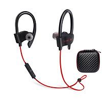 Tai nghe thể thao không dây Bluetooth giá rẻ 56S, âm thanh mạnh mẽ, hỗ trợ micro đàm thoại tặng kèm hộp tai nghe vuông carbon - Hàng chính hãng