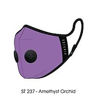 Khẩu trang thời trang cao cấp Soteria Amethyst Orchid ST237 - Khẩu trang vải than hoạt tính [size S,M,L] Van đen
