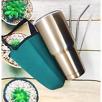 BÌNH GIỮ NHIỆT THÁI LAN 900ml (ĐÚNG MẪU)+ Túi đựng (màu ngẫu nhiên) + 2 ống hút + cọ ống hút -AMZO-MS03 (Bình giữ nhiệt)