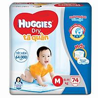 Tã Quần Huggies Dry Gói Cực Đại M74 (74 MIếng) - Bao Bì Mới