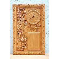 Tranh gỗ đốc lịch đồng hồ Vợ Chồng - TG245-011