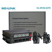 Bộ chuyển đổi quang thoại 8 kênh Ho-link HL-8PCM-20TR - Hàng Chính hãng
