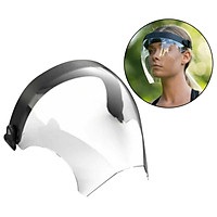 Unisex Outdoors Full Face Shield Visor Riding Glasses Guard Protection Safety Face Covering Anti-spray Anti Fog Dustproof Washable