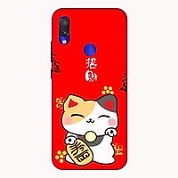 Ốp lưng điện thoại Xiaomi Redmi 7 hình Mèo May Mắn Mẫu 3 - Hàng chính hãng