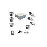 Trọn bộ 7 Camera Hikvision 1080P (Văn Phòng, Cửa Hàng) Hàng Chính Hãng